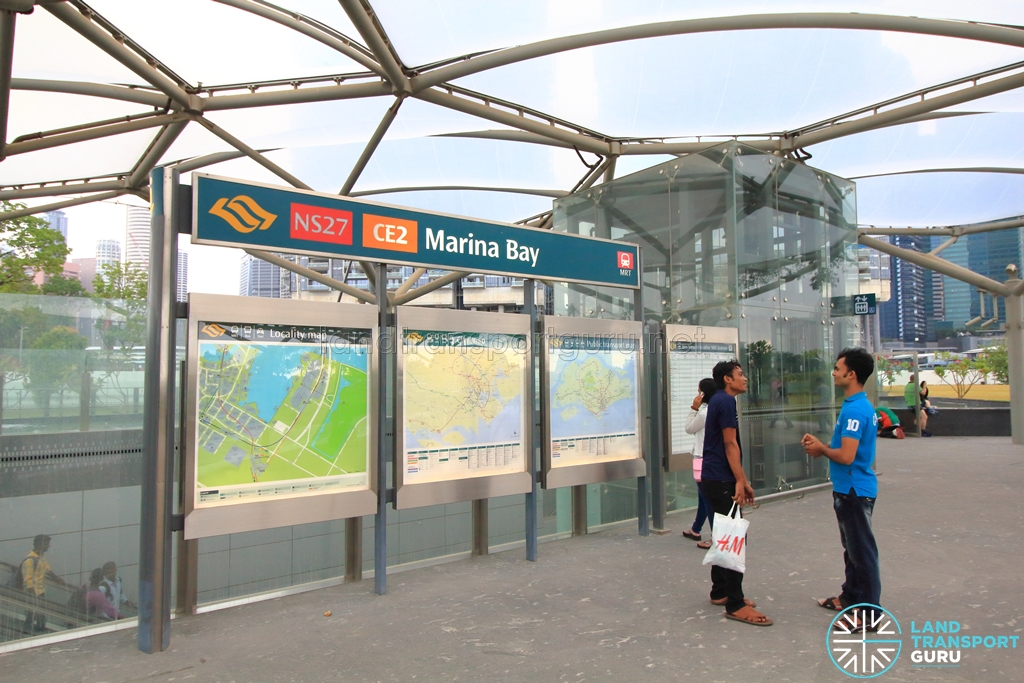 station exit b - Garden By The Bay Mrt Station