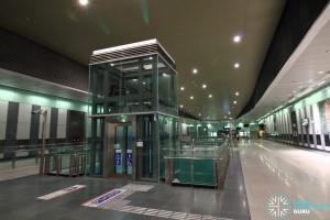Marina South Pier MRT Station - Paid concourse area