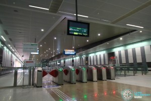 Marina South Pier MRT Station - Faregates