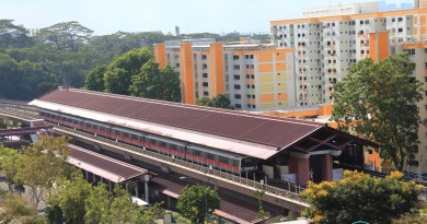 Marsiling MRT Station - Aerial view