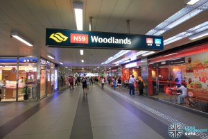 Woodlands MRT Station - Concourse near Exit B