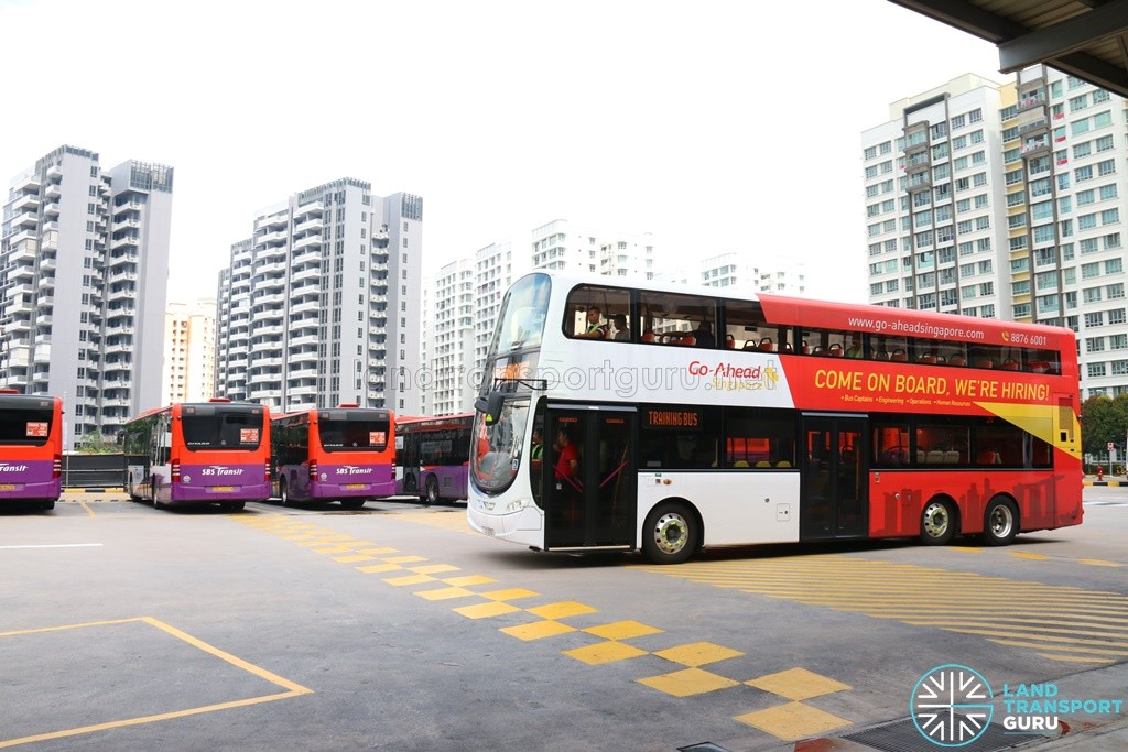 Volvo B9TL (Go-Ahead) training at Punggol Bus Interchange