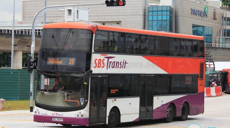 SBST Volvo B9TL CDGE (SBS7468P) - Service 28