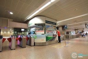 Tanjong Pagar MRT Station - Passenger Service Centre & Faregates