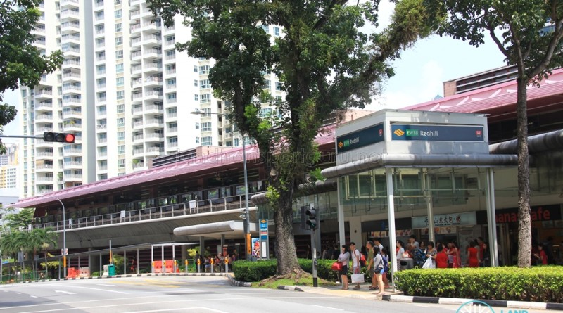 Redhill MRT Station - View from across Tiong Bahru Road