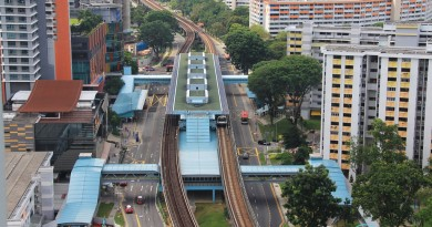 Clementi MRT Station - Aerial view