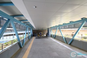 Clementi MRT Station - Linkbridge to Exits C and D