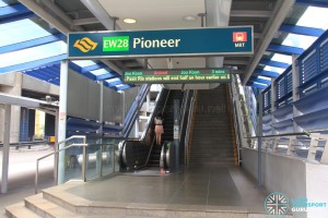 Pioneer MRT Station - Exit B