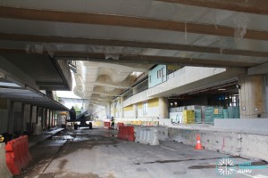 Tuas Crescent MRT Station - Construction progress (June 2016)