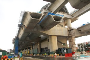 Tuas Crescent MRT Station - Construction progress (March 2016)