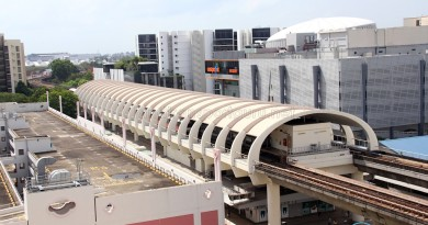 Simei MRT Station - Aerial view