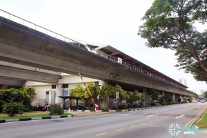 Tanah Merah MRT Station - Exterior view (from West)