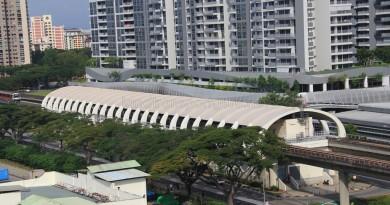 Bedok MRT Station - Aerial view