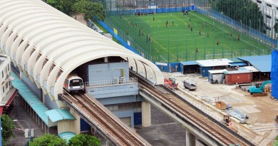 Aljunied MRT Station - Aerial view