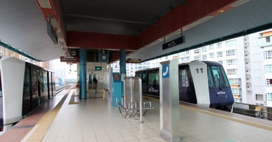 Oasis LRT Station - Platform level
