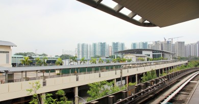 View from Tongkang LRT station