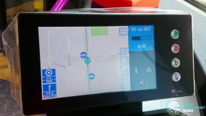 Satellite Navigation mode on Service 45 (SBS Transit) along Bedok Road towards Upper East Coast.