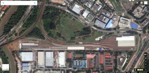 Satellite view of Ulu Pandan Depot