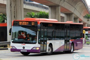 SG1037B on 61 - SMRT Buses Mercedes-Benz Citaro in full SBS Transit base livery