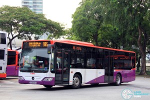 SG1038Z on 985 - SMRT Buses Mercedes-Benz Citaro in full SBS Transit base livery