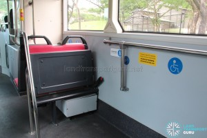 Foldable Seats and Wheelchair Bay