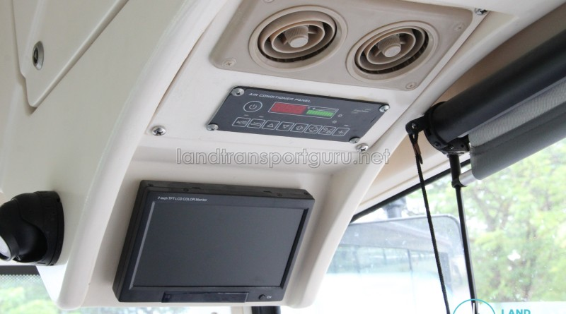 CCTV and Air-Con control panel