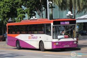 SBS2830J on Bus Service 563 - Volvo B10M Mk IV DM3500
