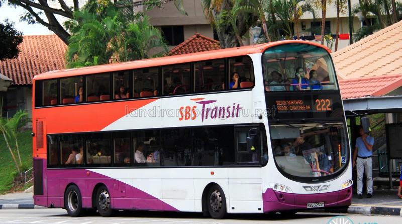 SBST Volvo B9TL (SBS3260Y) - Service 222