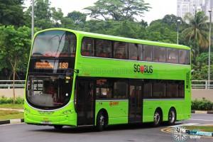 SMRT Volvo B9TL (SG5042J) - Service 180