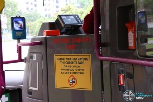 SMRT Buses Volvo B9TL Interior Stickers
