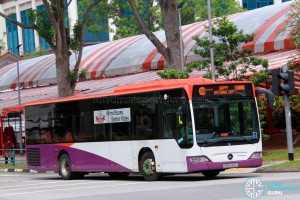 Off Service Mercedes-Benz Citaro with National Day scroll