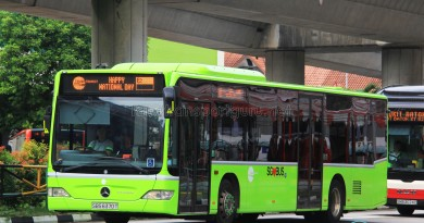 Tower Transit Mercedes-Benz Citaro (SBS6370T) displaying the National Day scroll