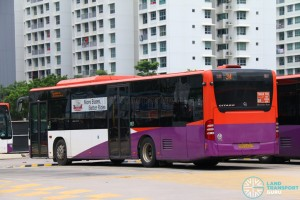 "SBST Mercedes-Benz O530 Citaro (SBS6400K) - Service 34 without ""SBS Transit"" logos in preparation for transfer to Go Ahead Singapore"