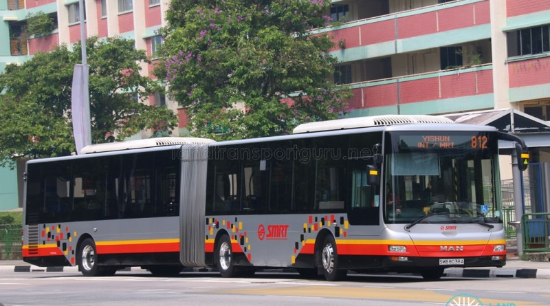 SMB8038A on 812 - SMRT Buses MAN A24