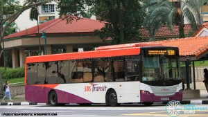 SBST Scania K230UB (SBS8538P) - Service 53A (Old Route)