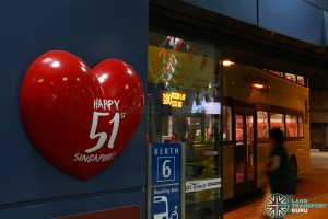 Heart decoration at Boon Lay Bus Interchange