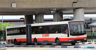 SMRT Mercedes-Benz O405G Volgren (TIB1024H) - Service 913