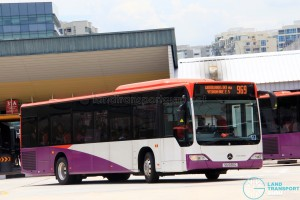 SG1037B on 969 - SMRT Buses Mercedes-Benz Citaro in full SBS Transit base livery and no SMRT logo