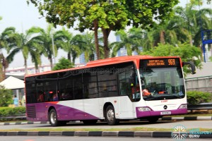 SG1030Z on 969 - SMRT Buses Mercedes-Benz Citaro in full SBS Transit base livery