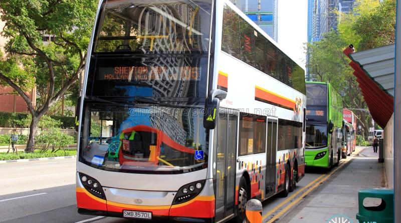 Tower Transit buses on Service 106 bunching