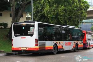 Rear of SMRT Mercedes-Benz Citaro (SMB140P) - Service 855
