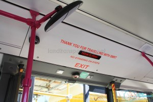 Thank You for Traveling with SMRT at Exit Door