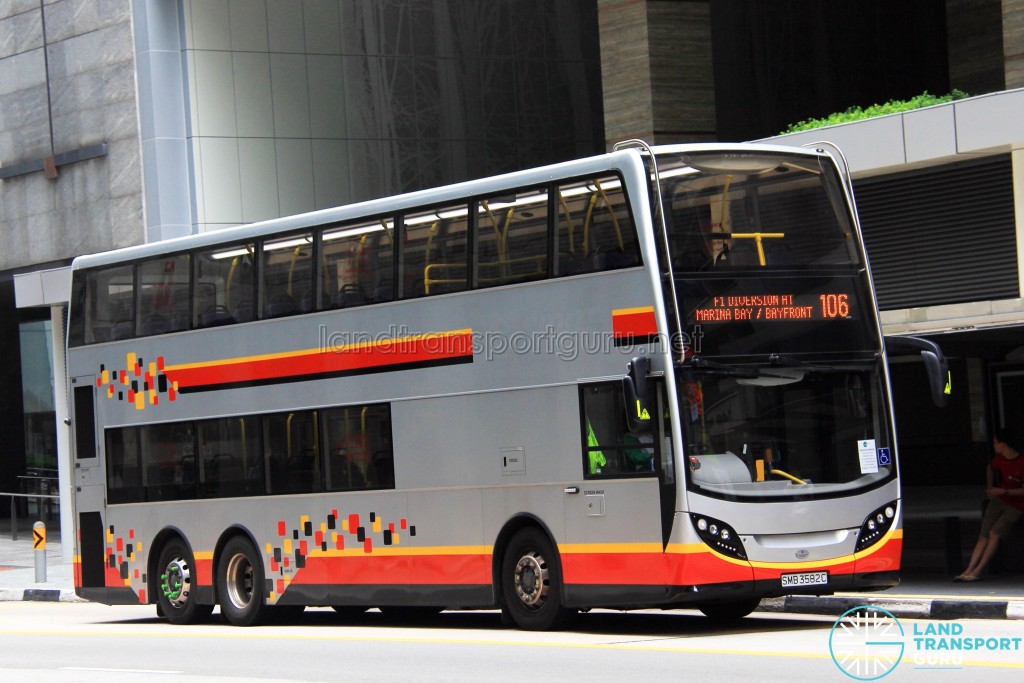 Tower Transit Alexander Dennis Enviro500 (SMB3582C) - Service 106, with F1 Diversion scroll