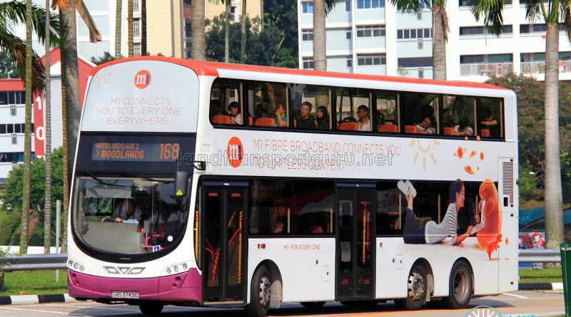 SBS Transit Volvo B9TL Wright (SBS3749E) - Service 168