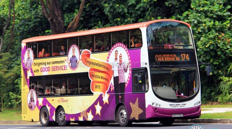 SBS Transit Volvo B9TL Wright (SBS3755L) - Service 174
