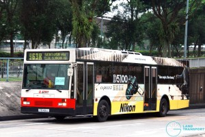 SMRT Mercedes-Benz O405 (TIB488J) - Service 963R, with roof-mounted A/C pod