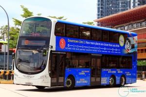 Tower Transit Volvo B9TL Wright (SG5025J) displaying Tower Transit EDS