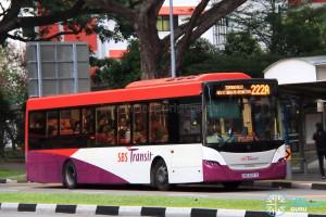 SBS Transit Scania K230UB Euro V (SBS5057E) - Service 222A