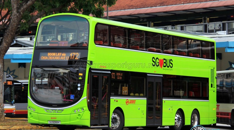 SG5068K on 172 - SMRT Buses Volvo B9TL, Wright Eclipse Gemini II body