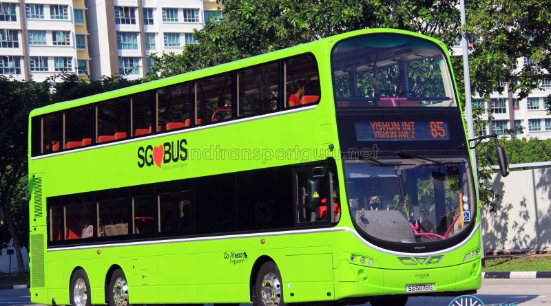 Go-Ahead Volvo B9TL Wright (SG5078G) - Service 85